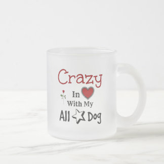 All-Star Dog 10 Oz Frosted Glass Coffee Mug