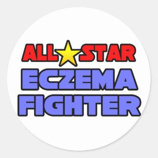 All Star Eczema Fighter Classic Round Sticker