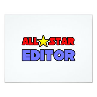 All Star Editor 4.25x5.5 Paper Invitation Card
