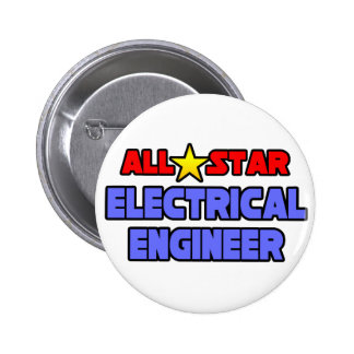All Star Electrical Engineer Pinback Button
