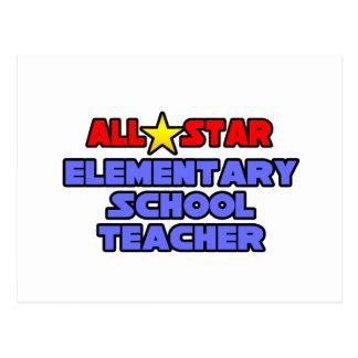 All Star Elementary School Teacher Post Card