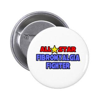 All Star Fibromyalgia Fighter Pinback Button