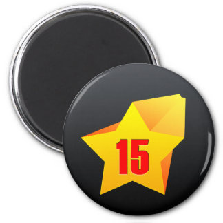 All Star Fifteen years old! Birthday 2 Inch Round Magnet