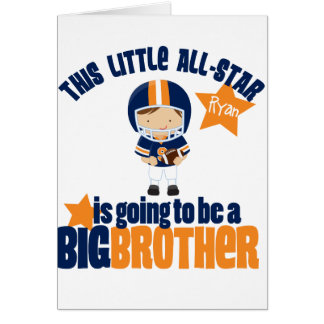 All-Star Football Big Brother T-shirt Greeting Cards