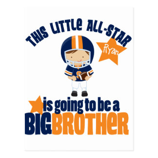 All-Star Football Big Brother T-shirt Postcard