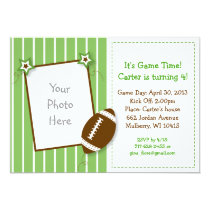 All Star Football Photo Birthday Invitations
