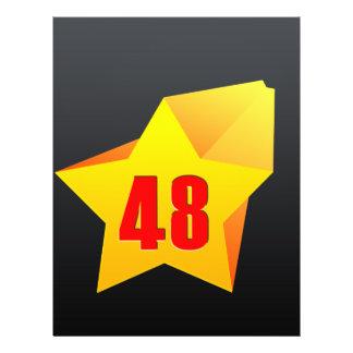All Star Fourty Eight years old! Birthday Custom Flyer