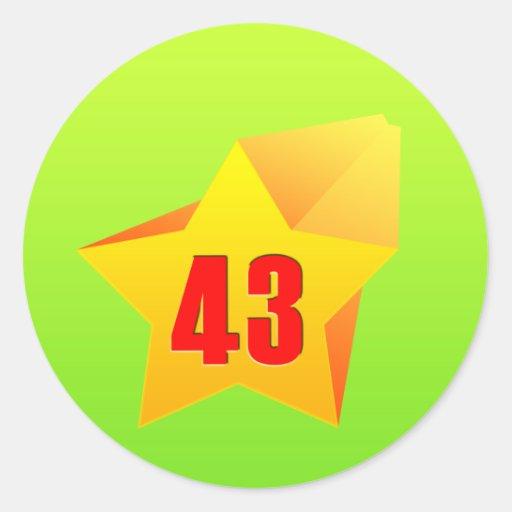 All Star Fourty Three years old! Birthday Classic Round Sticker