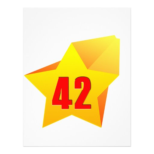 All Star Fourty Two years old! Birthday Letterhead