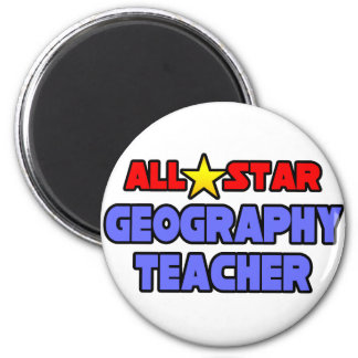All Star Geography Teacher Magnet