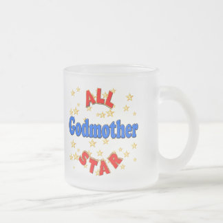 All Star Godmother Mothers Day Gifts 10 Oz Frosted Glass Coffee Mug