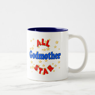 All Star Godmother Mothers Day Gifts Two-Tone Coffee Mug