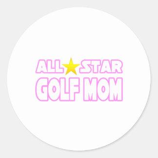 All Star Golf Mom Classic Round Sticker