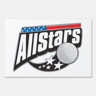 All Star Golf Yard Sign