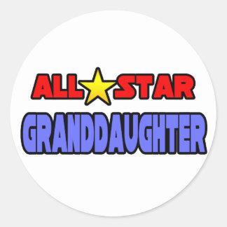 All Star Granddaughter Classic Round Sticker