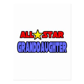 All Star Granddaughter Postcard