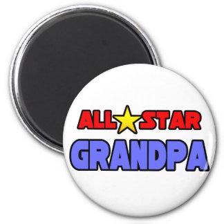 All Star Grandpa 2 Inch Round Magnet