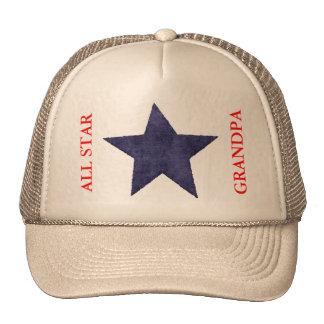 ALL STAR GRANDPA BASEBALL CAP TEMPLATE TRUCKER HAT