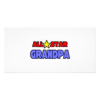 All Star Grandpa Personalized Photo Card