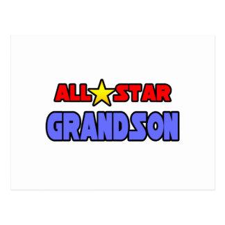 All Star Grandson Postcard