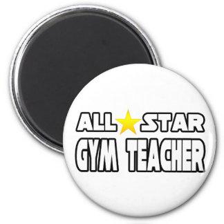 All Star Gym Teacher 2 Inch Round Magnet