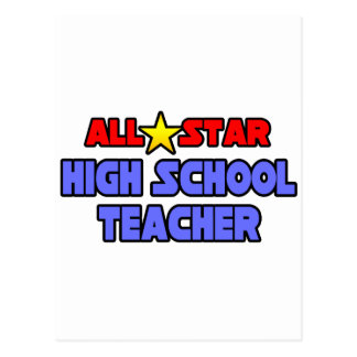 All Star High School Teacher Postcard