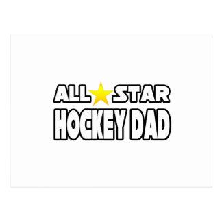 All Star Hockey Dad Postcard