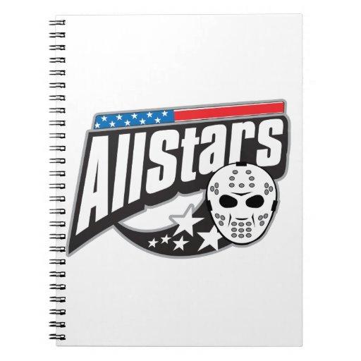 All Star Hockey Spiral Note Book
