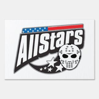 All Star Hockey Yard Sign