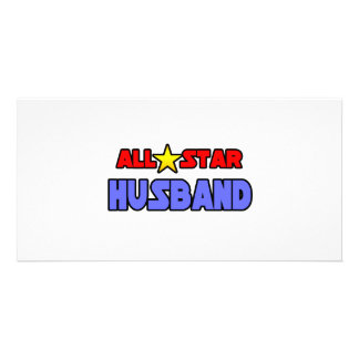 All Star Husband Picture Card