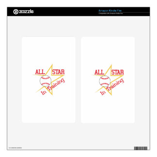 All Star In Training Kindle Fire Skin