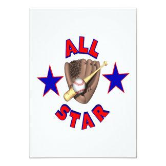 All Star Invitación 12,7 X 17,8 Cm