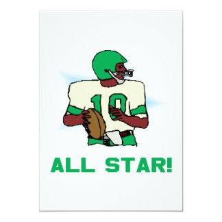 "All Star Invitación 5"" X 7"""