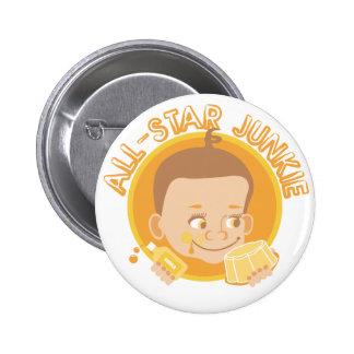 All-Star Junkie 2 Inch Round Button