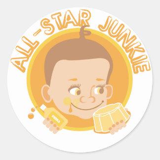 All-Star Junkie Classic Round Sticker