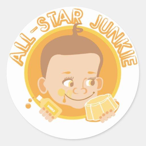 All-Star Junkie Round Sticker