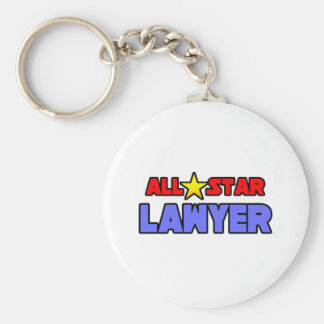 All Star Lawyer Basic Round Button Keychain