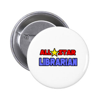 All Star Librarian Pinback Button