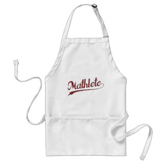 All Star Mathlete Math Athlete Adult Apron