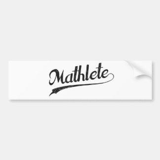 All Star Mathlete Math Athlete Car Bumper Sticker
