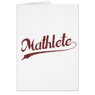 All Star Mathlete Math Athlete Card