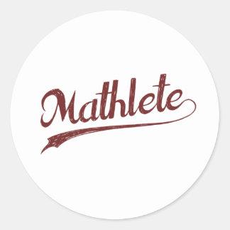 All Star Mathlete Math Athlete Classic Round Sticker