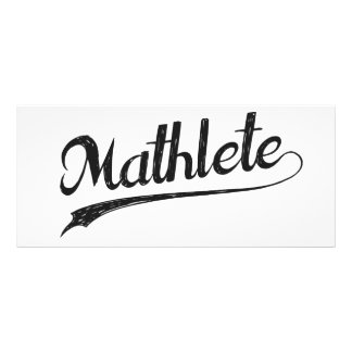 All Star Mathlete Math Athlete Full Color Rack Card