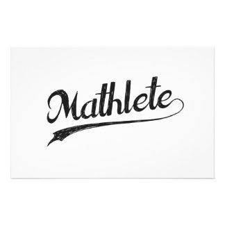 All Star Mathlete Math Athlete Stationery