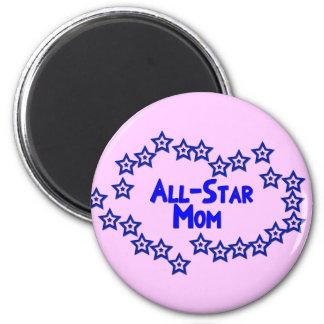 All Star Mom 2 Inch Round Magnet