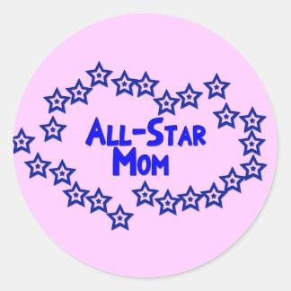 All Star Mom Classic Round Sticker