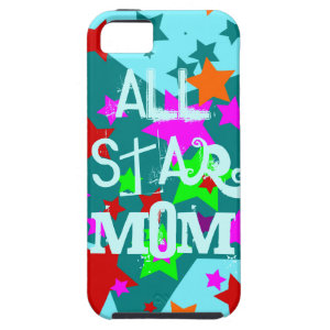 All Star Mom iPhone Case Teal Mothers Day Gifts iPhone 5 Case
