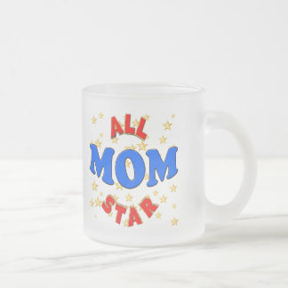 All Star Mom Mothers Day Gifts 10 Oz Frosted Glass Coffee Mug