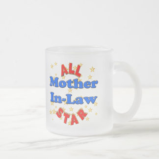 All Star Mother-In-Law Mothers Day Gifts 10 Oz Frosted Glass Coffee Mug