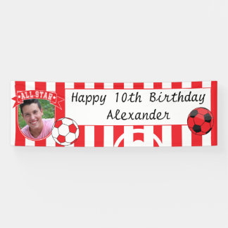All Star Occasion Soccer Banner - Red & White